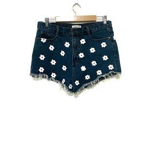 Toby Heart Ginger Dark Blue Denim Shorts Large